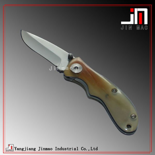Popular style ox bone material handle craft knife