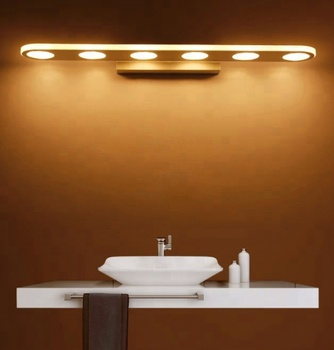 White Warm Led Vanity Mirror Light Bathroom Fixtures Cabinet Makeup Product On Alibaba