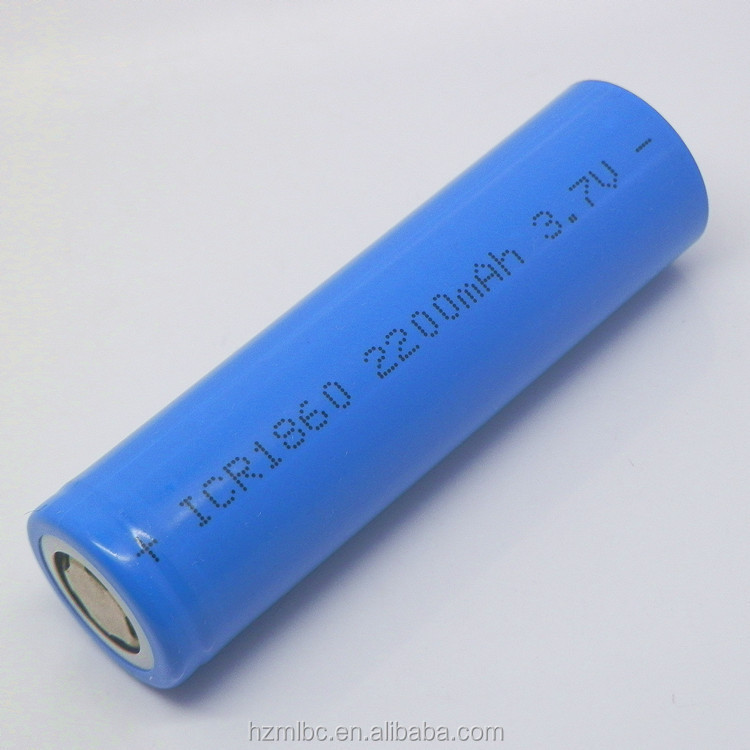 lithium battery rechargeable 3.7v 2200mah 18650 li ion battery cell