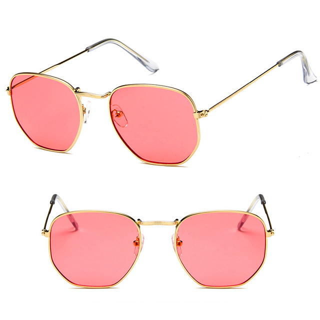 DLL3548 Gold metal <strong>sun</strong> glasses mirror 2018 ladies fashion mens sunglasses