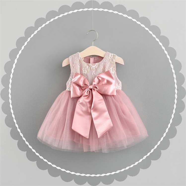 baby girl Princess Frill Dress Children Wedding Summer Bobbi Party lace Tutu Child Dress