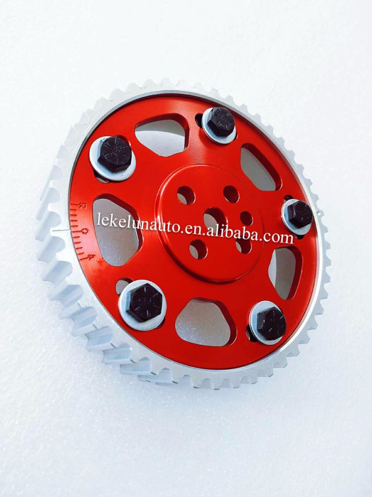 RED HYPERCAM ADJUSTABLE CAM GEAR for NISSAN SKYLINE R31 RB30 TURBO