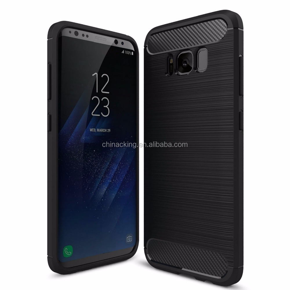 newest 57981 451cb For Samsung Galaxy S8 S8 Plus Rubber Case Carbon Fiber Tpu Brushed Rugged  Tpu Case For Galaxy S7 S7 Edge - Buy Carbon Fiber Tpu Case,For S8 Carbon ...
