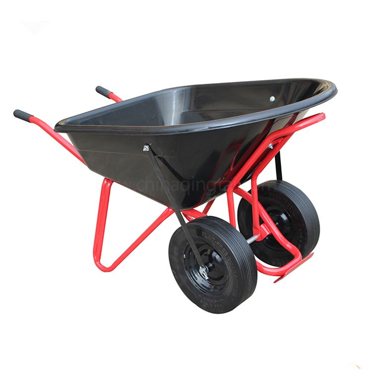 Garden use large sizes capccity 120l plastic function wheelbarrow