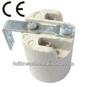 CE list E14 ceramic incandescent lamp holder, outdoor lamp holder
