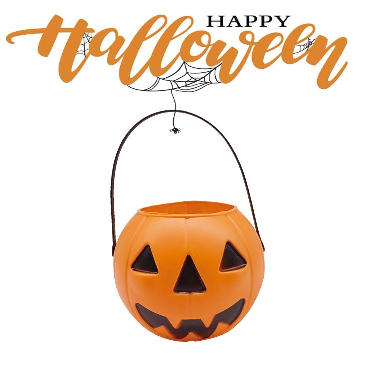 Großhandel Und Förderung Anpassbare Kunststoff Halloween Kürbis Süßigkeiten Korb