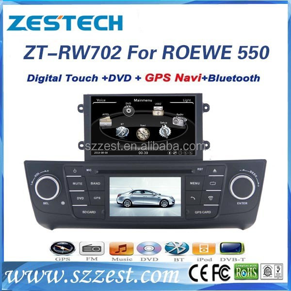 "ZESTECH Factory OEM dashboard Dvd player gps radio 7"" car dvd player for ROEWE 550 MG6 car radio"