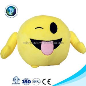 Naughty face new product emotion plush emoji pillow doll toy cheap plush  stuffed soft custom whatsapp emoji pillow