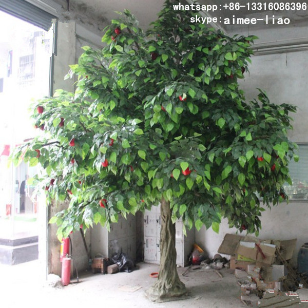 Q020309 Indoor Decoration Real Wood Artificial Fruit Trees For ...