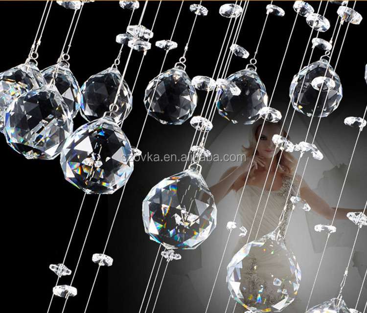 Personalized luxury simple led creative crystal living room chandelier ball hanging lamps