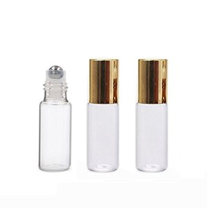3ml5ml6ml10ml Clear glass Essential Oil Roller Bottles Empty Perfume Fragrance Cosmetic Liquid Lotion Sample Roller ball Bottles