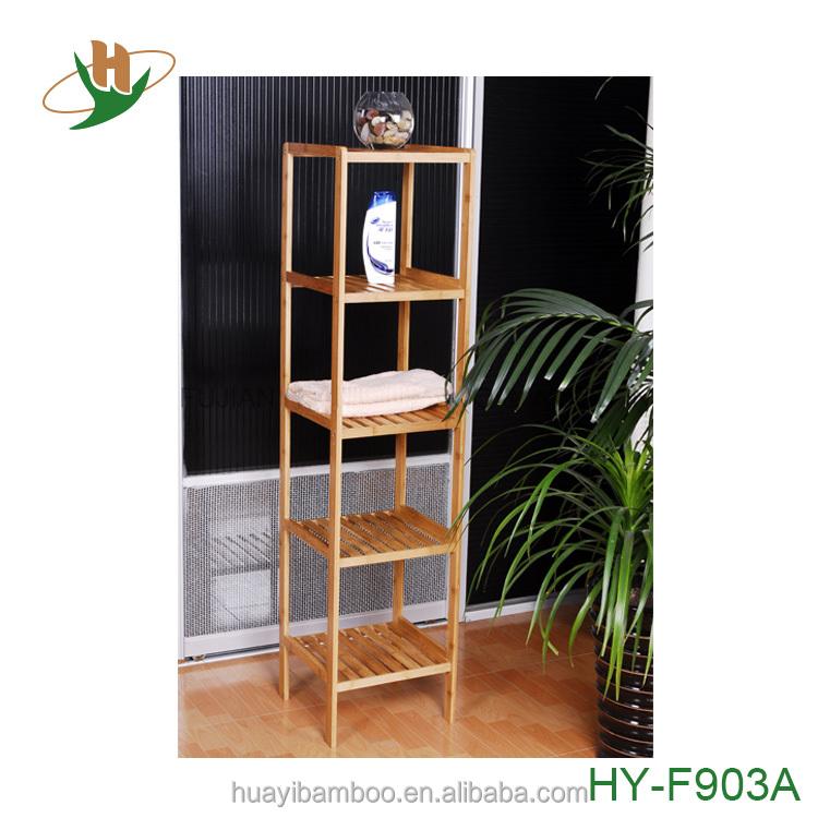 tiers estante de toalla de bao de bamb