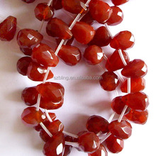 Loose gemstone carnelian faceted teardrop beads