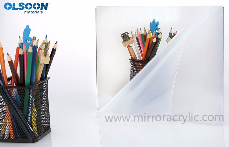 OEM and CNC service Olsoon 1mm to 6mm thick two way double sided acrylic mirror sheet