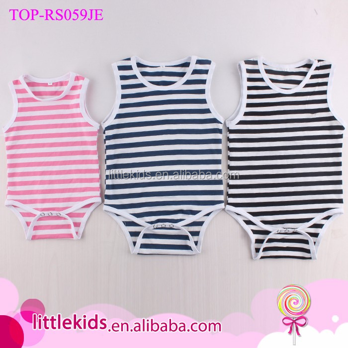 Newborn Infant Plain Cotton Stripes Baby Romper/Baby Bodysuit/Baby Onesie