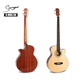 High quality wood electric acoustic bass guitar OEM