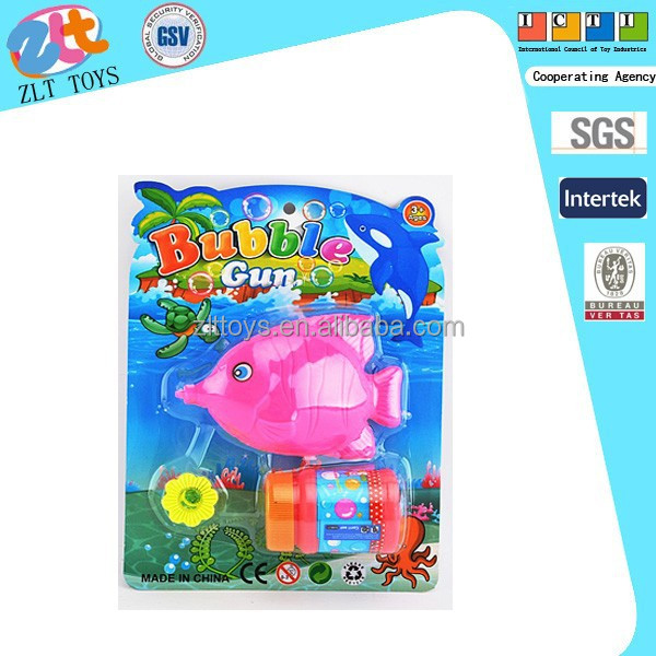 FISH BLOWING BUBBLES/bubble shooter gun toy