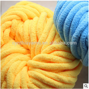 Super Thick Chunky Giant Chenille Yarn For Hand Knitting Yarn Baby Carpet Price