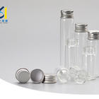 Chinese New Product 50ml Clear Glass Testing Tube Bottle Vial With Screw Metal Cap 100ml