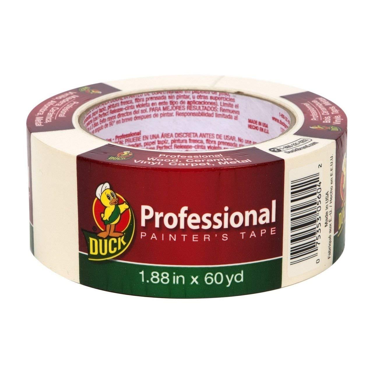 "Bulk Professional Grade Painters Tape, 1.88"" x60yd, Beige: Duck Brand 1361966 (84 Painters Tape Rolls)"
