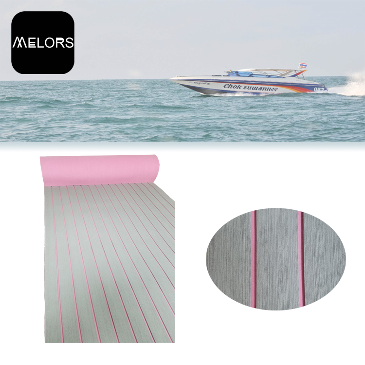 Melors 90in x 35in Synthetic Teak Boat Decking EVA Marine Foam Flooring Non Slip Adhesive Pads
