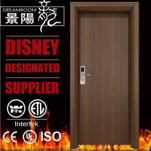 UL listed 60 minutes fire rated wooden hotel room door