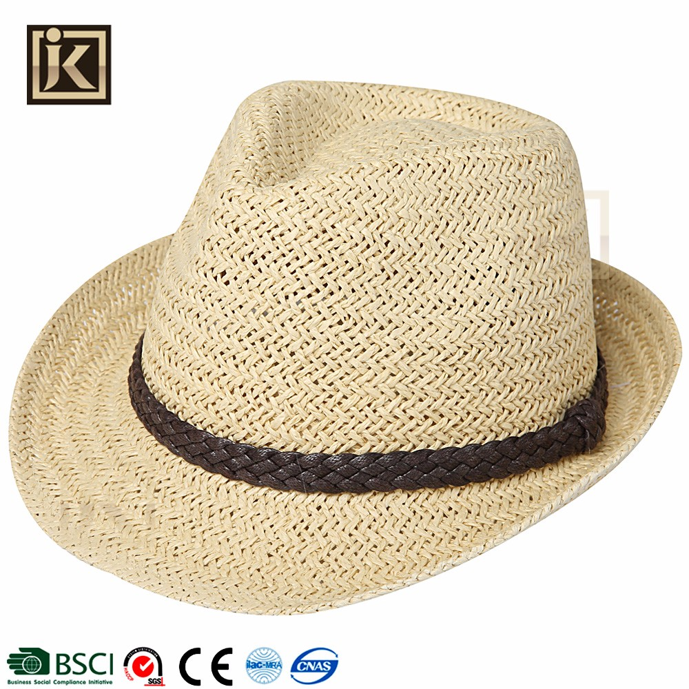 JAKIJAYI cool popular summer types of men s hat high quality exporting  cheap price man mini fedora straw hat c6f647236610