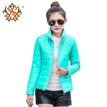 NEW 2014 brand new women's sport jacket to keep warm in winter padded silk, ladies fashion casual Slim padded winter jacket