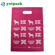 Shenzhen factory supplier environmental clear die cut handle plastic bags wholesale