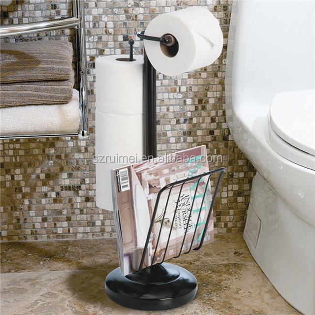 WC Zeitschriftenständer Lagerung Inhaber Veranstalter  Toilettenpapier Halter Mit Regal