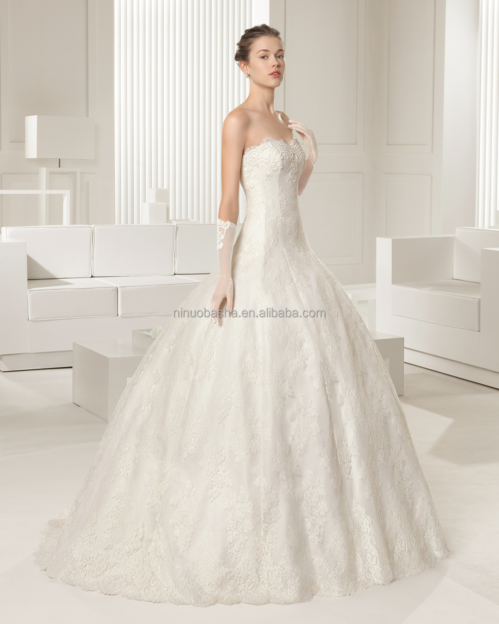 whole famous designer 2017 lace ball gown wedding dress with