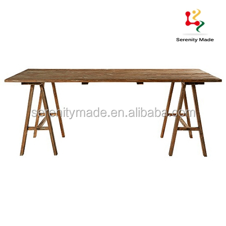 Guangzhou rustic style outdoor 12 seater wedding wood dining table for event hire