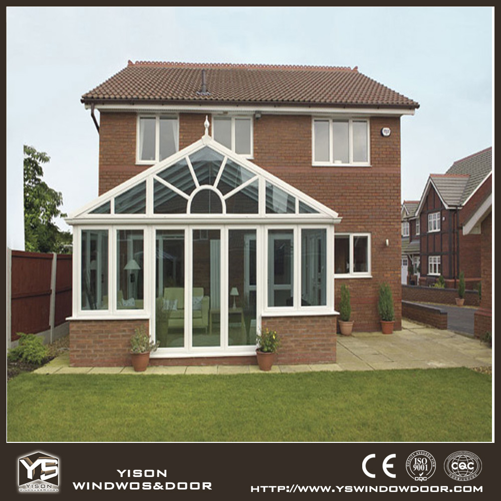 Usato prefabbricati in alluminio veranda giardino casa di vetro per la vendita sunroom e la casa - La casa di vetro ...
