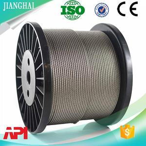 Food Grade Stand Up Pouch prestressed wire strand steel rope for hoist 6x19 with No Sew Bonding