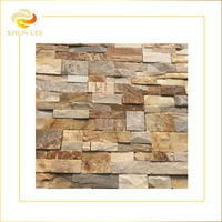 Exterior beige wall cladding quartzite stacked stone natural culture stone