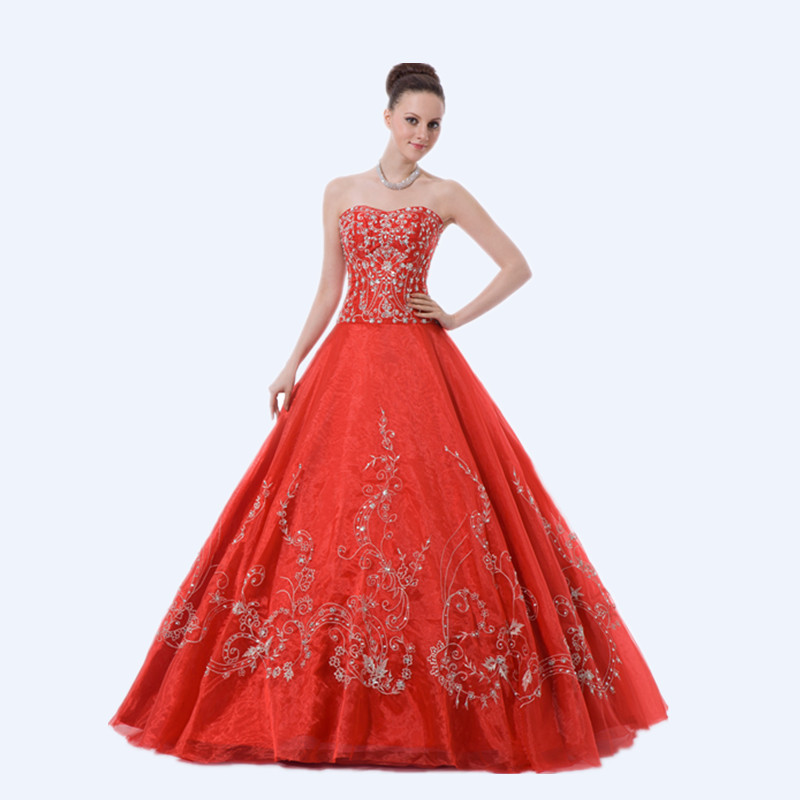 6f993004c73 Get Quotations · Vintage White Beading Embroidery Sweetheart Bodice Corset  Red Organza Ball Gown Quinceanera Dresses 2015 Sweet 16