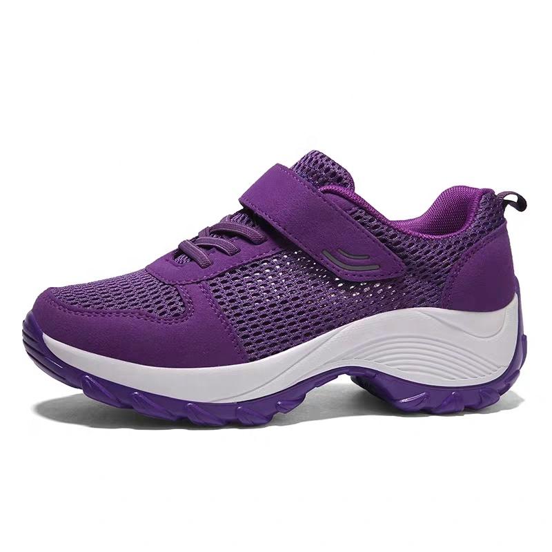 9441f1ac5e2 TZNX-001 2019 venta al por mayor señoras tacón alto comodidad transpirable zapatillas  deportes zapatos
