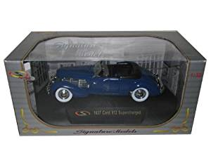 1937 Cord 812 Supercharged Blue 1/32 Diecast Car Model by Signature Models 32312