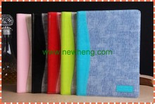 Hot selling Jean style leather case with card slot for IPAD5