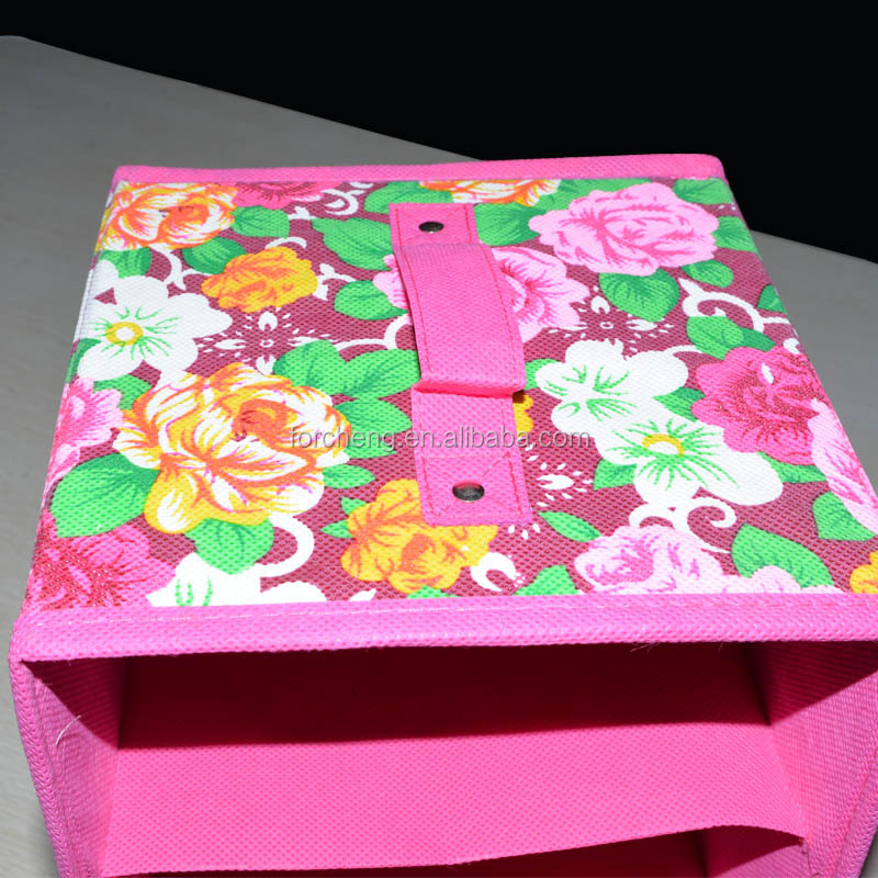 home underwear Folding cube fabric storage box