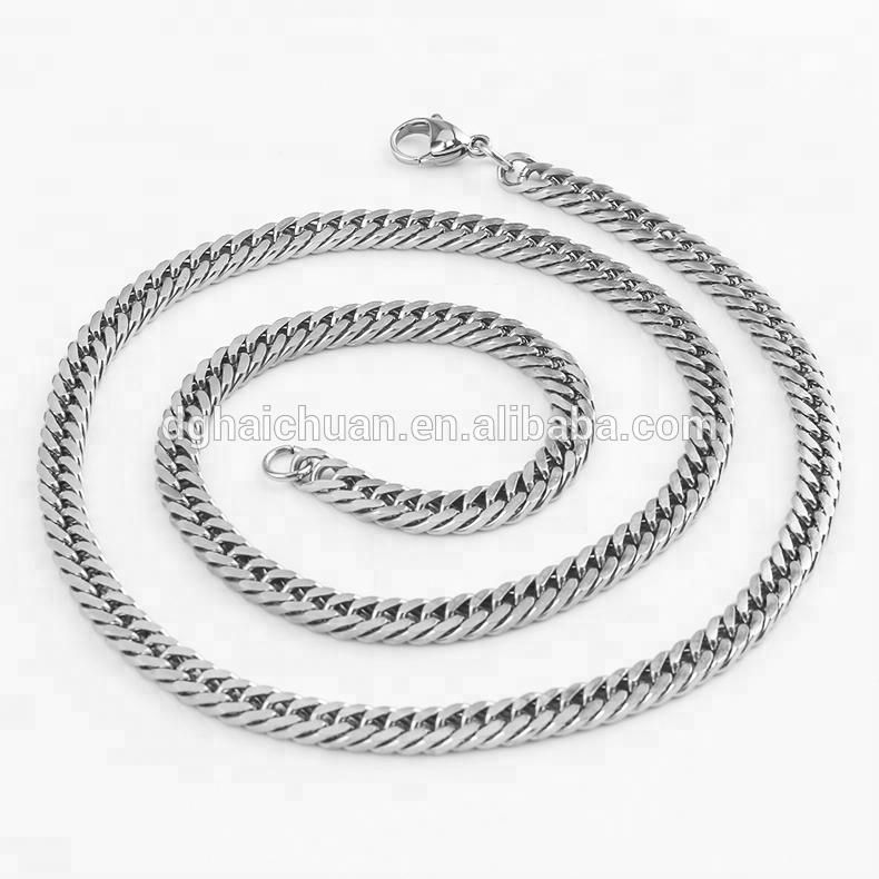 1PC Stainless Steel Silver Tone 2.8mm Cross Chain Necklace 51cm
