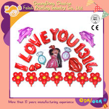 China products aluminium advertising letter foil balloon