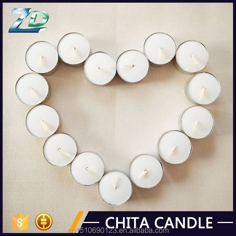 16g Tea candle-10adet white tealight with aluminum and 100% cotton wick tea Candle to PRC