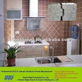 Ligero y decorativo incombustible paneles de hormig n para - Panel decorativo cocina ...