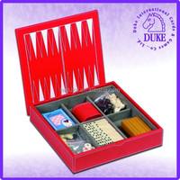 Multiple deluxe 7 in 1 chess, backgammon, checker, poker game set