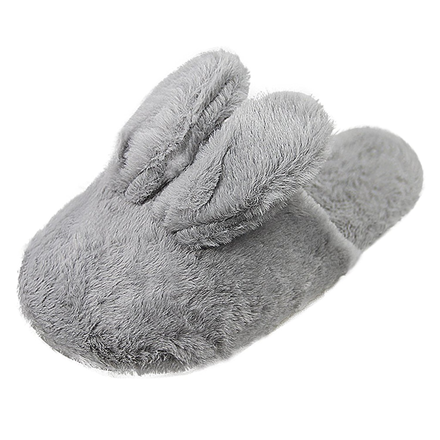 Cartoon Rabbit Cozy House Slippers, Women's Girls Men's Boys Memory Foam Fuzzy Plush Winter Warm Indoor Slippers Mules Anti-slip Slip-on Fur Slide Shoes Lightweight Home Spa Fleece Sandal Clog Slipper