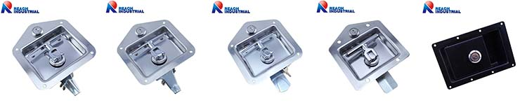 Stainless Steel Tool Box Recessed Paddle Handle Lock