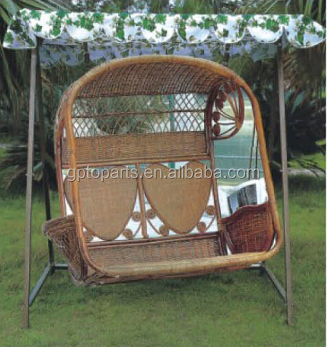 Superior 3 People Seats Handicraft Bamboo Hanging Chair