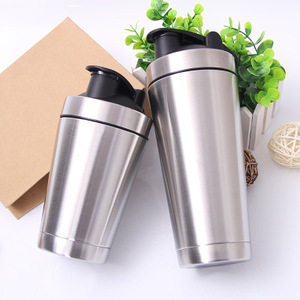 2018 Amazon Wholesale Bpa Free Custom Stainless Steel Protein Shaker Bottle Shaker Protein Bottle, Fitness Shaker