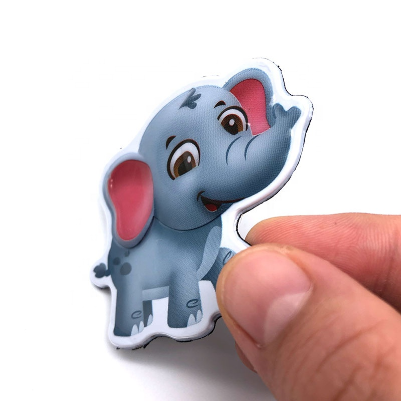 China leverancier custom kawaii cartoon 3d zoo koelkast magnetische sticker